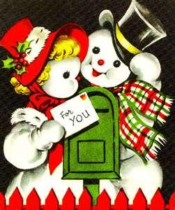 retro snowmen