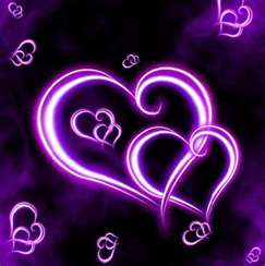 2 purple hearts