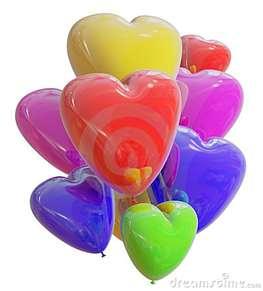 heart balloons...