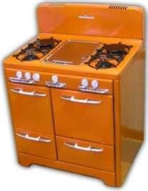 orange stove