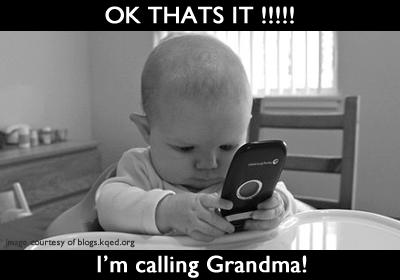 callling grandma
