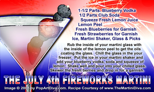 July 4th Fireworks Martini